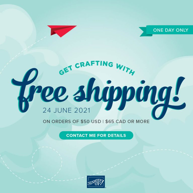 Free shipping, Stampin up